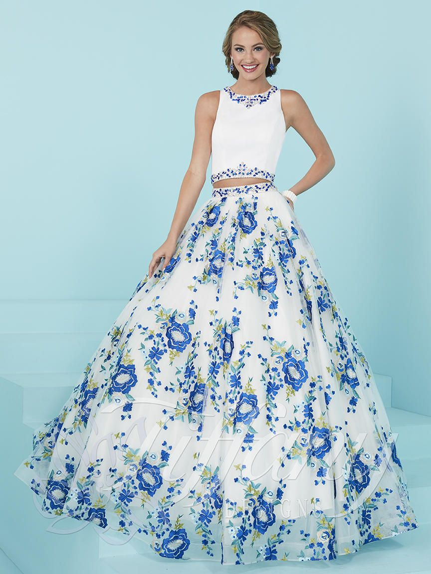 Tiffany Designs 16232 floral two piece prom dress - International ...