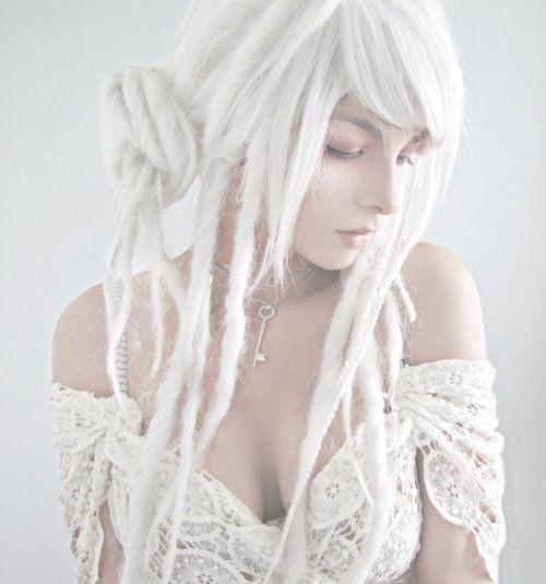 white dreadlocks