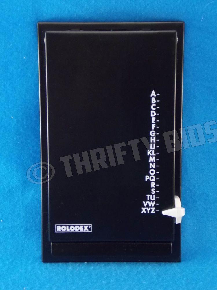 Rolodex Autodex Pop Up Address Telephone Flip File Black Holds 1200 ...