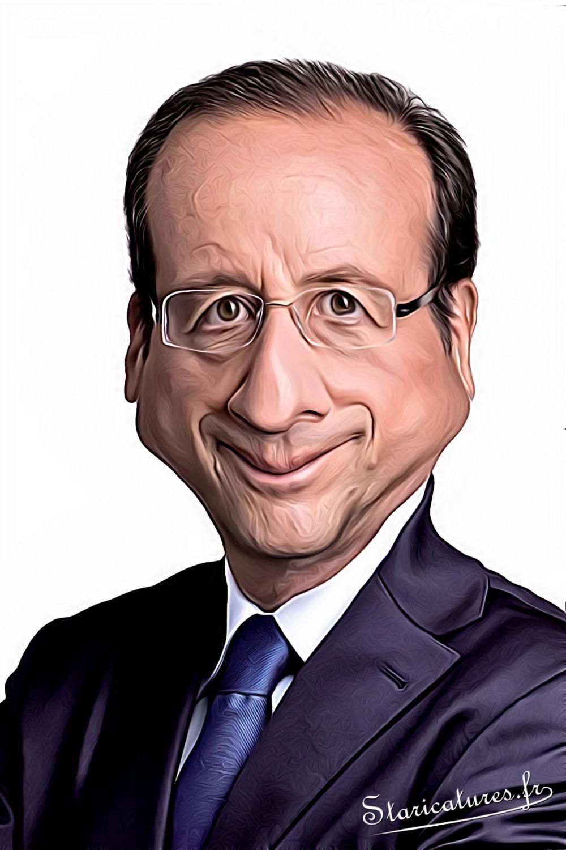 Caricature de François Hollande en 2020 Caricature