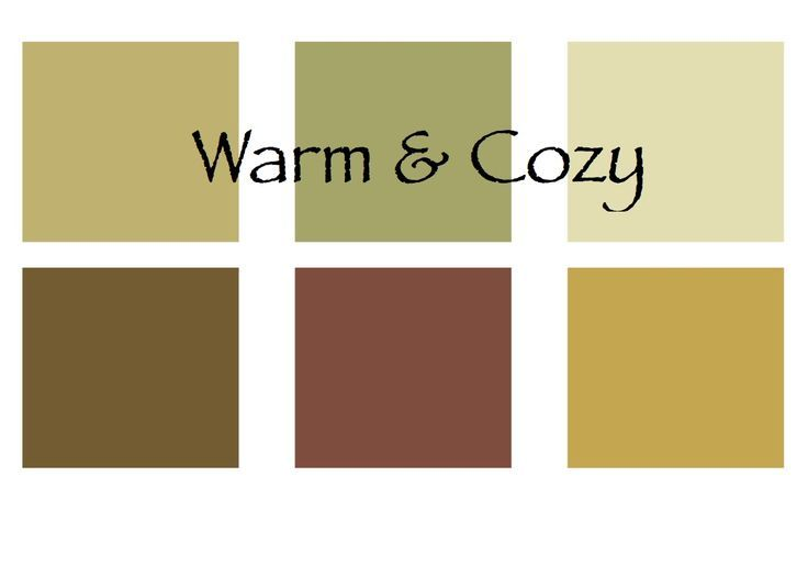 Warm color palette home decor
