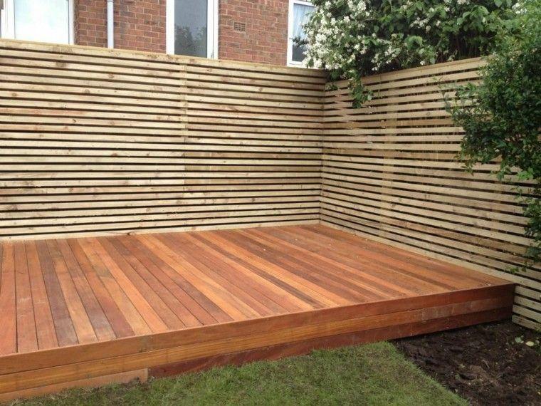 suelo de madera para el jardn - Vallas Madera Jardin