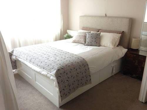 brimnes bed - Brimnes Bed Frame With Storage