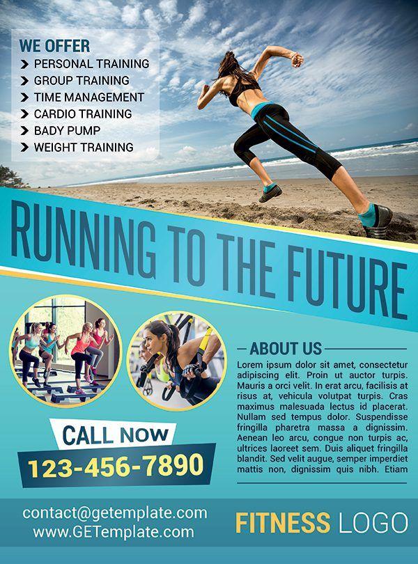 Running To The Future Premium Psd Flyer Template Getemplate