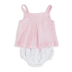 lovely solid pink smock top