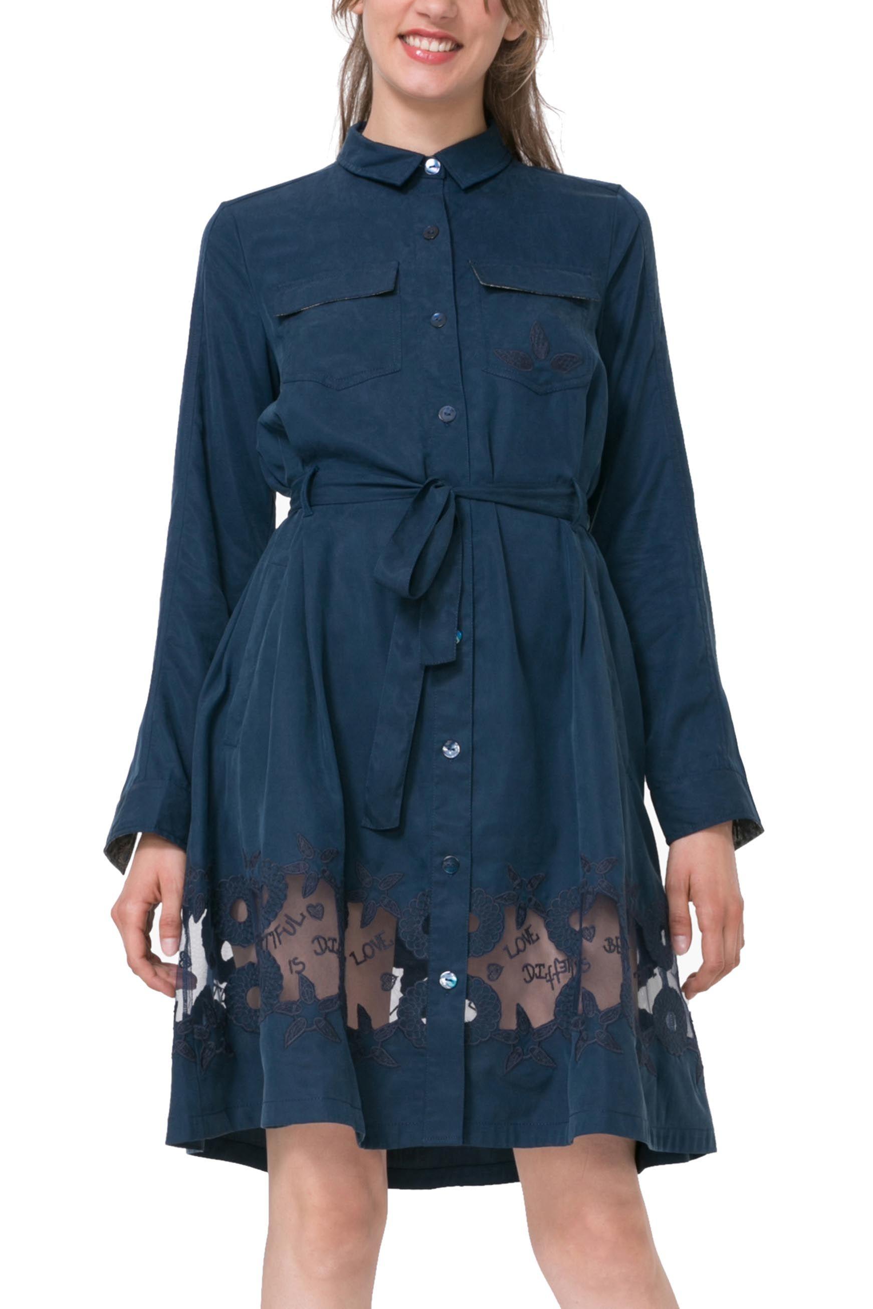 43c5960ac368 Desigual tmavě modré šaty Amelia - 3599 Kč