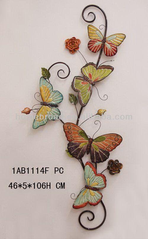 metal utterfly wall decoration | hot sale butterfly metal wall ...