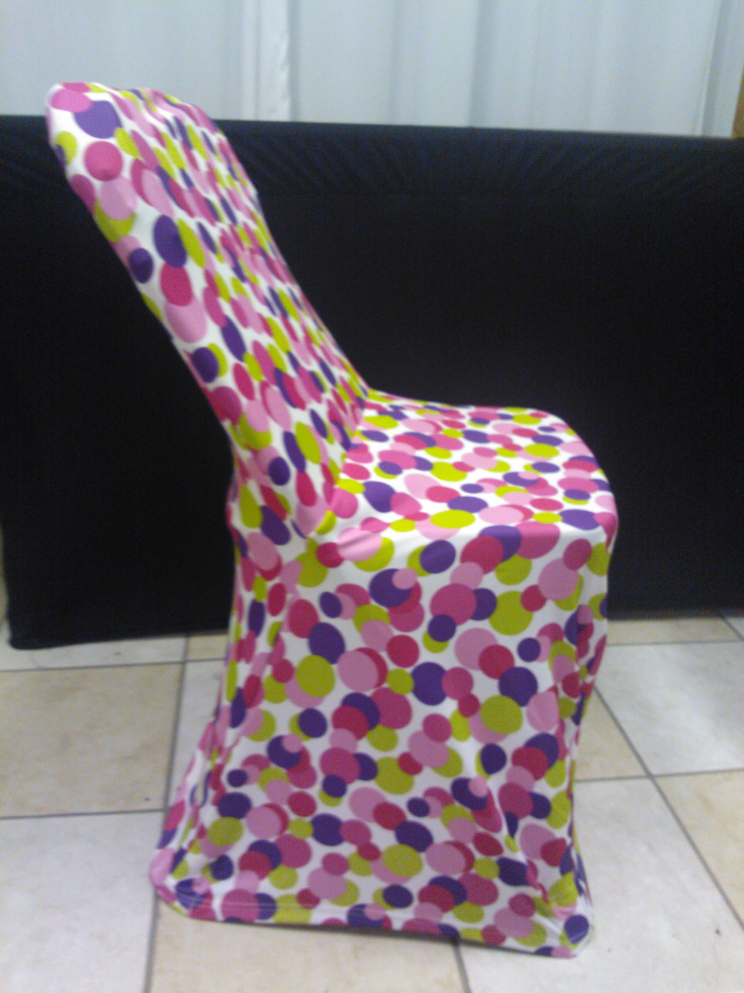 Light Pink Spandex Chair Covers Walmart.com Folding Cover In Fun Dots