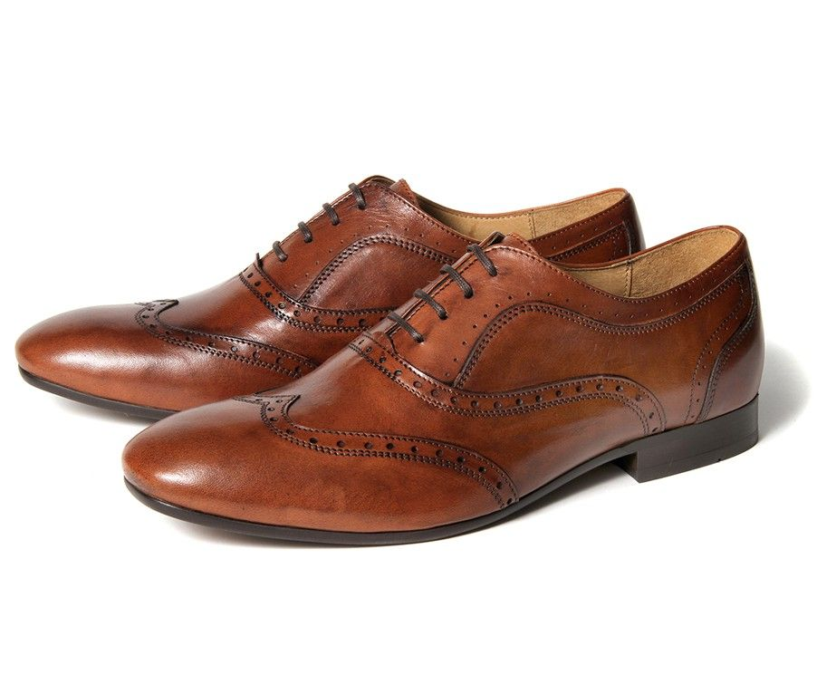 Francis Tan (£95.00) - This smart mens leather traditional brogue will add a