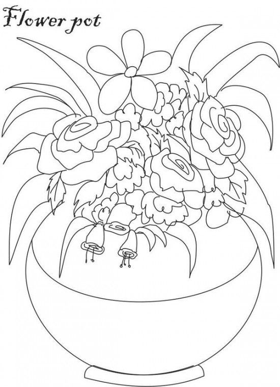 Flowers in Vase Coloring Pages Picture 81 550x760 picture