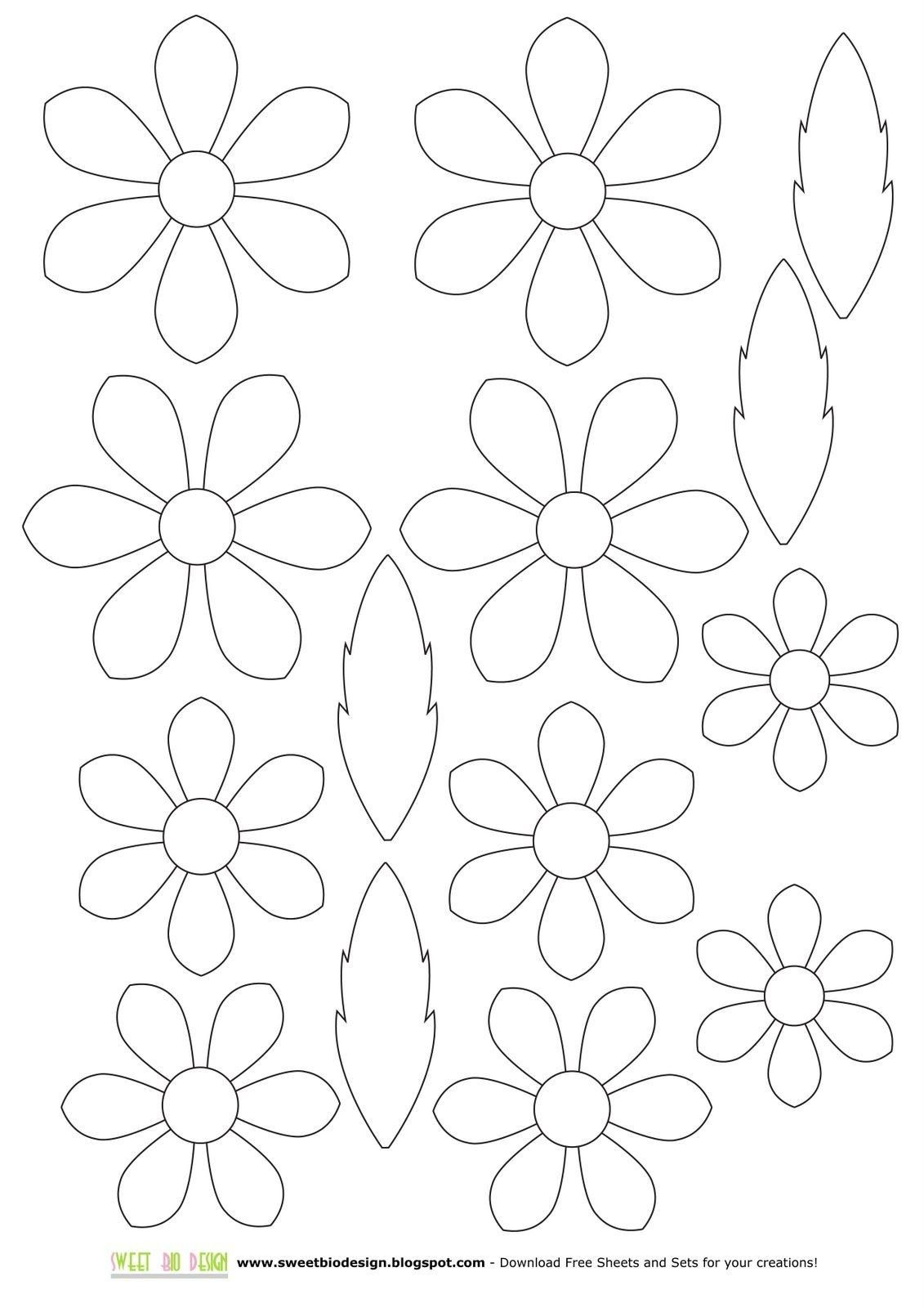 Pin By Desertrossa On Pewter Flower Template Paper Flower Template Paper Flowers Diy