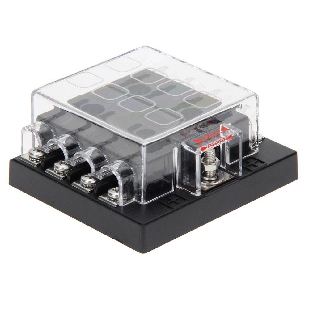 universal automotive fuse box universal 32v 8 way fuse box block fuse holder box car vehicle  block fuse holder box car vehicle
