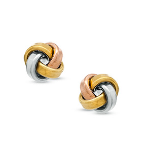 Zales Love Knot Stud Earrings in 14K White Gold gkyi6