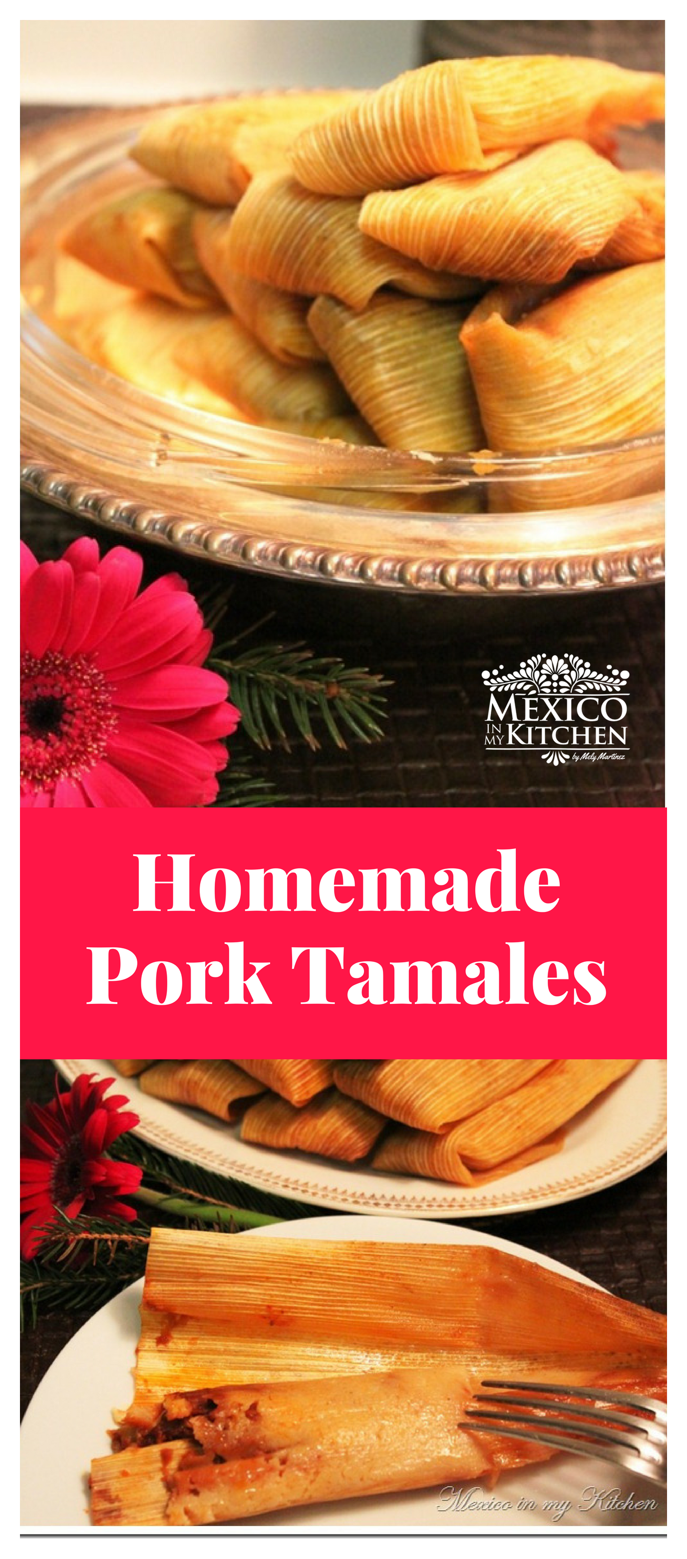How to make Homemade pork Tamales │ Pork tamales made at home using masa harina are very tasty! These ones are made with pulled pork the Mexican way.