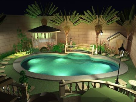 Small Pool - Modern Home Minimalist | Small pools, Backyard ... on