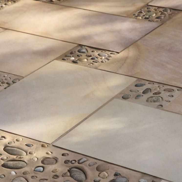 Mattonelle da esterno area pranzo lato portico tiles outdoor tiles flooring - Mattonelle da esterno ...