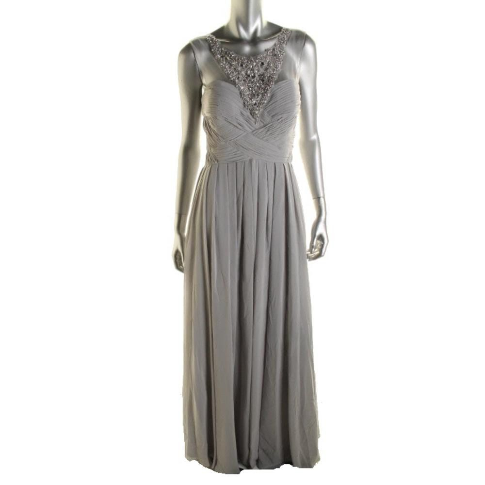 Js collections womens chiffon embellished semiformal dress