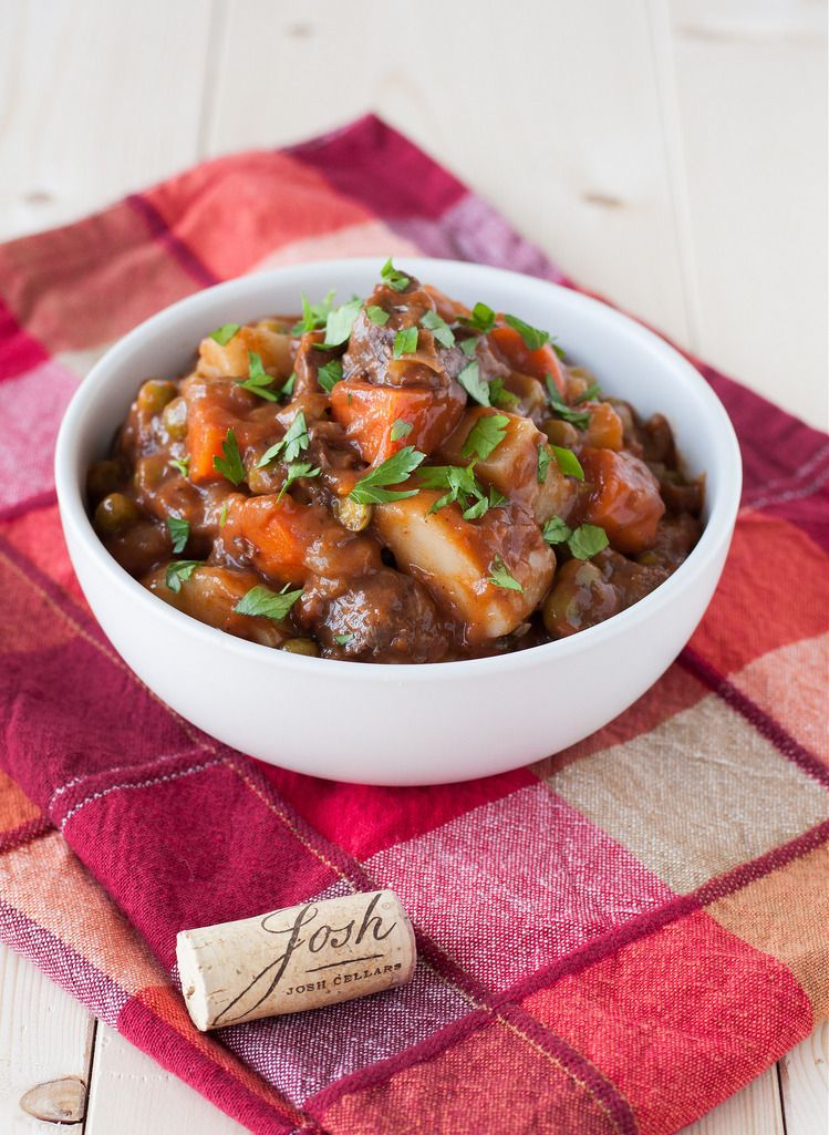 Beef stew and cork vertical