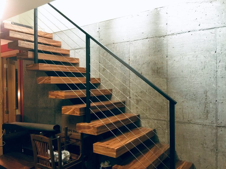 Best Straight Single Stringer Staircase Floatingstairs With 400 x 300