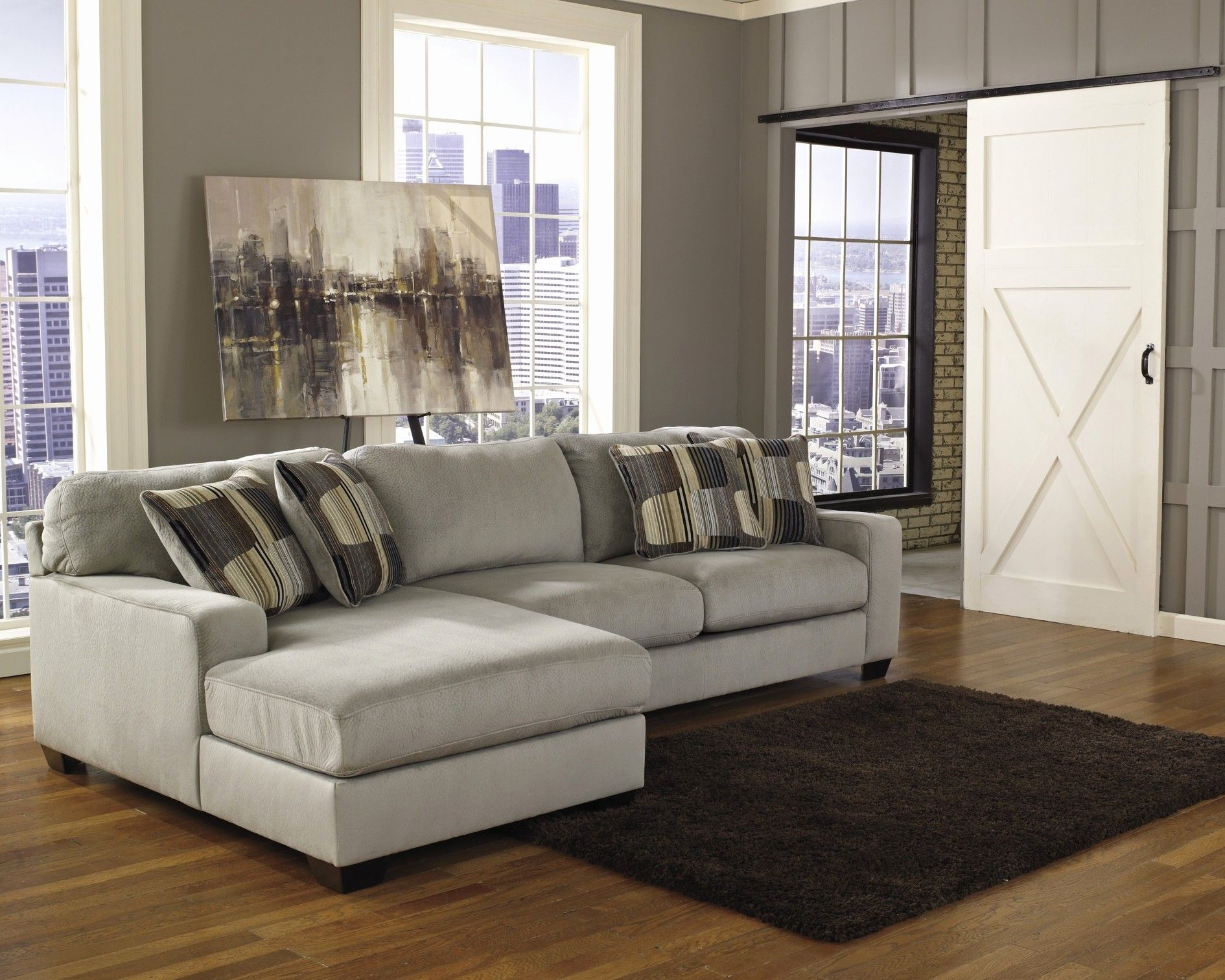 Ekornes toseter sofa i behagelig Alcantara stoff selges billig for