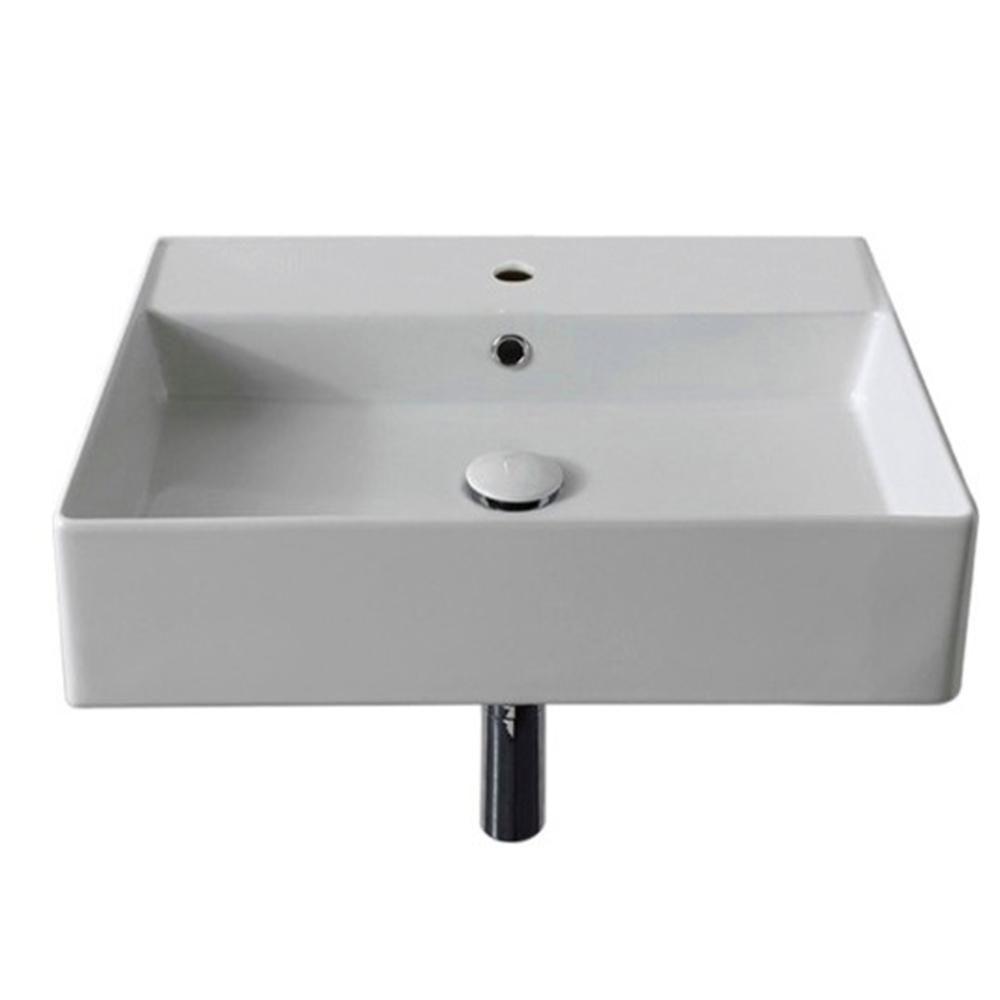 Teorema Wall Mounted Bathroom Sink In White Basement Ideas Wall