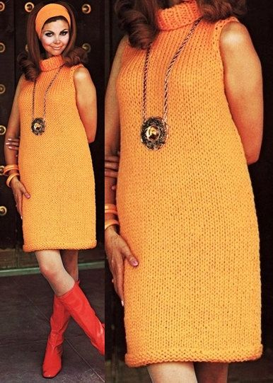 0da2a0b7a3 Orange Sweater chunky knit dress knitting by GrandmaHadItGoinOn - to buy  Etsy