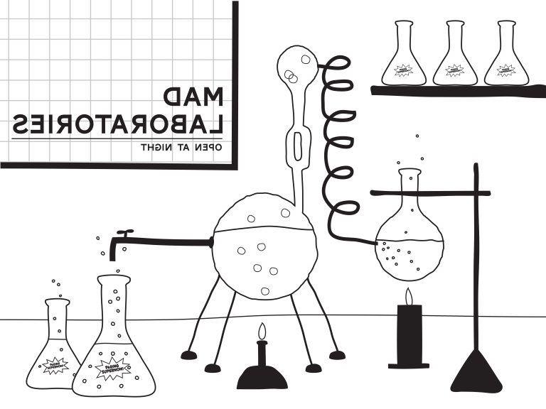 Printable Mad Scientist Lab Backdrop In 2020 Mad Scientist Lab