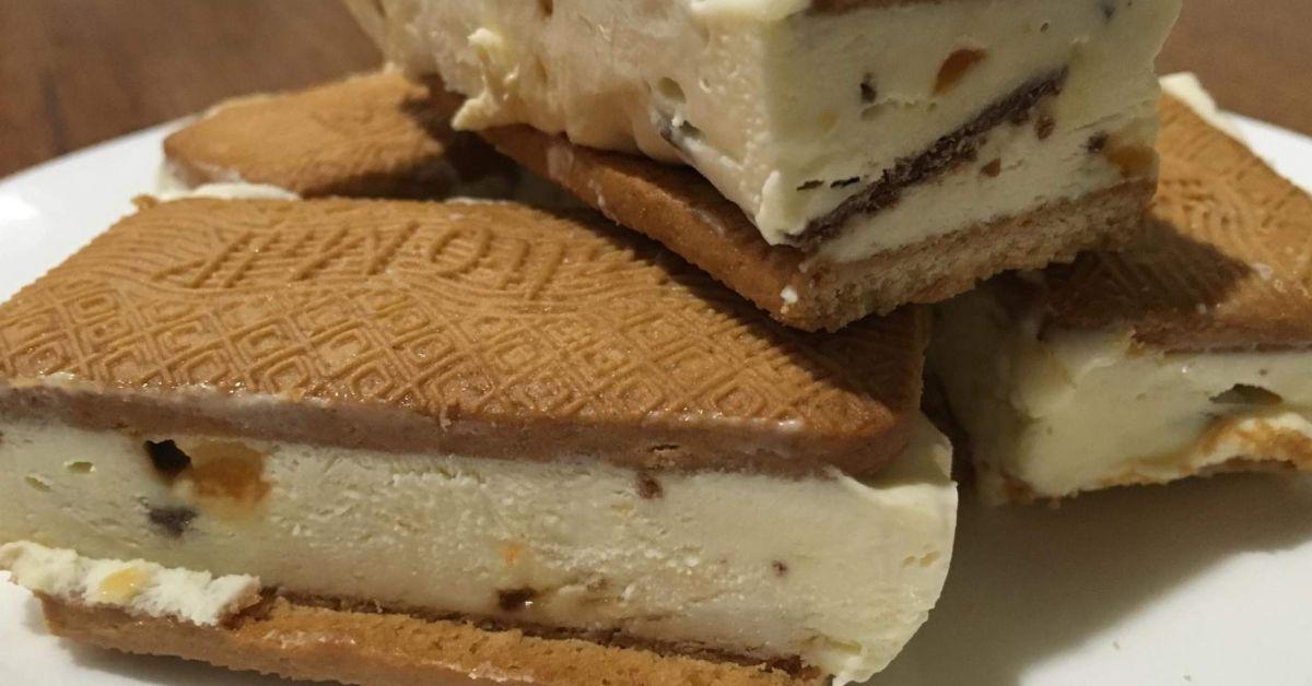 honeycomb ice cream slice sweets recipes thermomix desserts ice cream recipes on hebbar s kitchen recipes videos ice cream id=52666