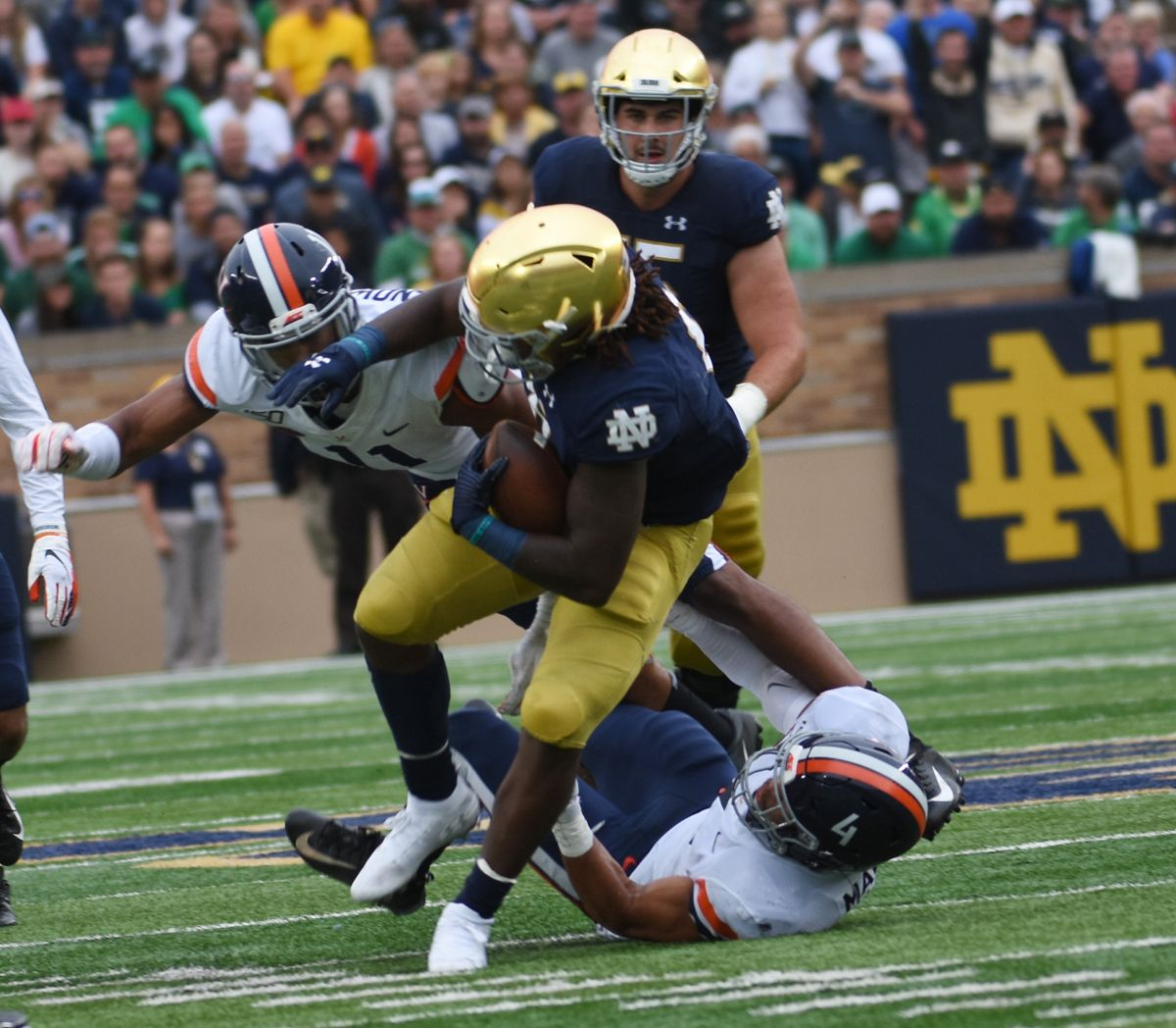Strong rushing attack highlights offense against Virginia