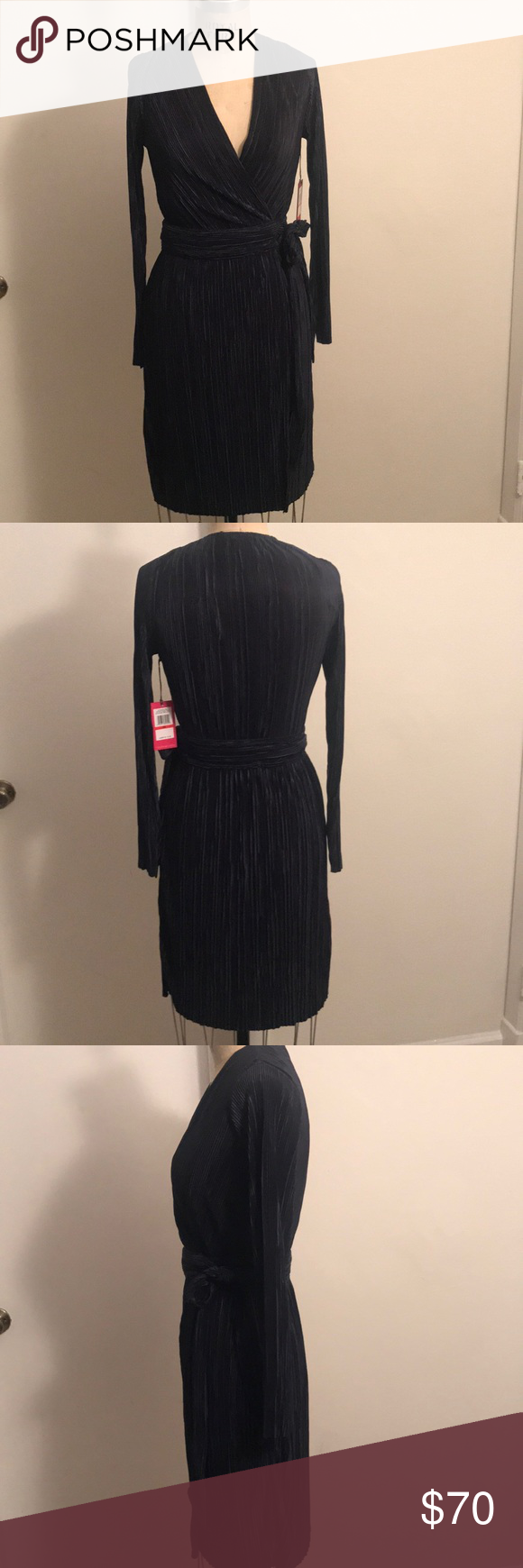 Vince camuto navy wrap dress nwt wrap dresses vince camuto and