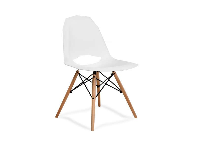 Chaise design scandinave de couleur blanche KENNEDY :: Achatdesign ...