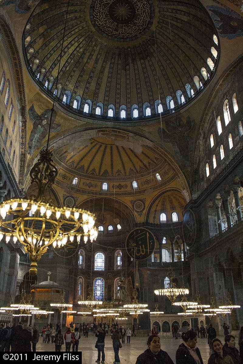 The great dome of the Hagia Sophia (Ayasofya) in Istanbul.