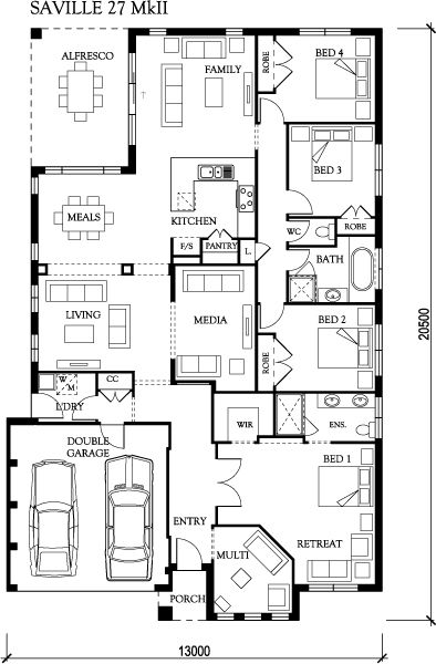 Saville eden brae homes floor plans pinterest house for Eden brae home designs