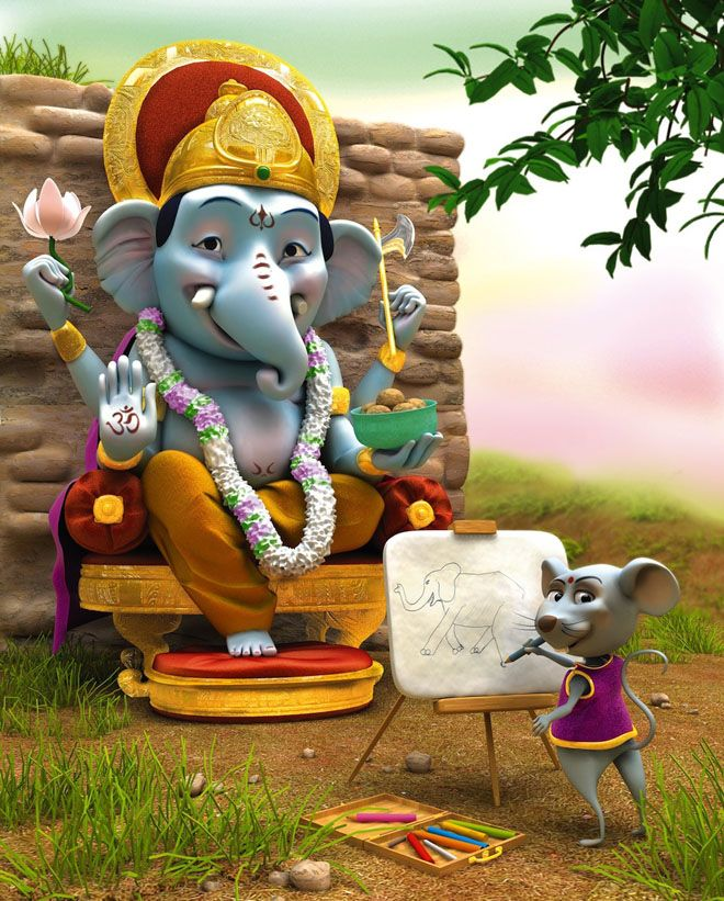 30 Beautiful Cinema 4d Models Renders Architectures And Sci Fi Scenes Funny Cartoon Characters Ganesha Character Design Inspiration