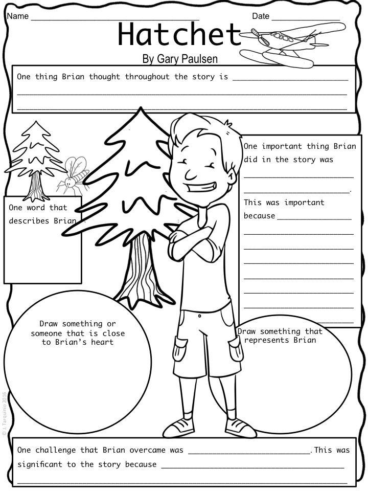 Hatchet Character Map | Hatchet book, Hatchet activities ...