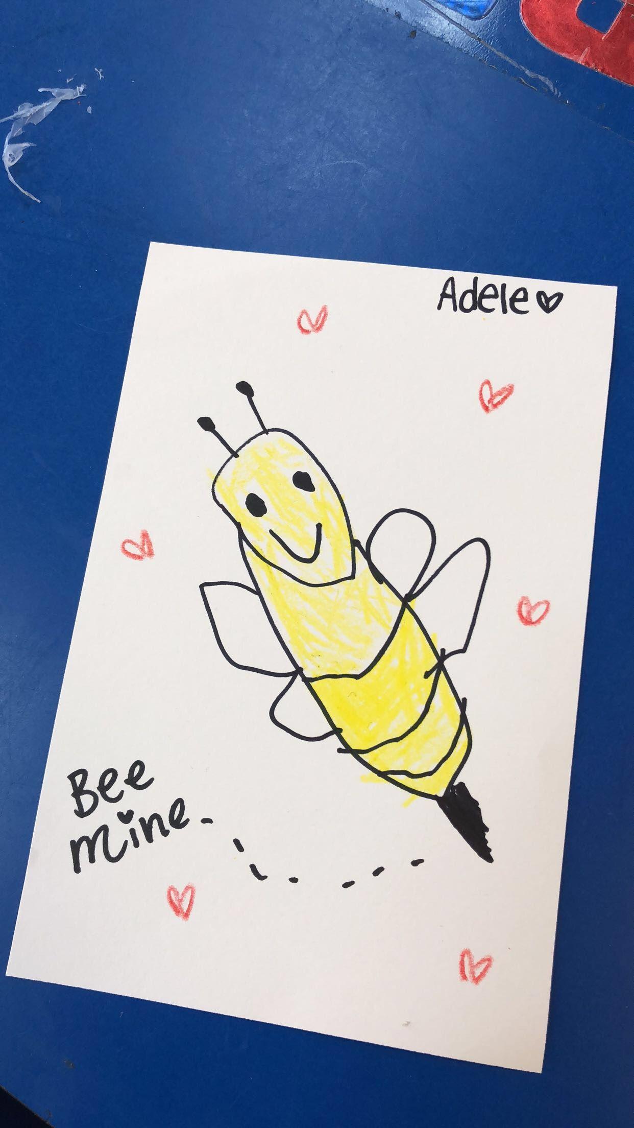 Preschool Valentine S Day Directed Drawing Bee Mine