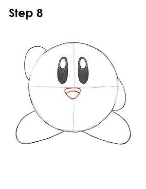 Draw Kirby Nintendo Step 8 Art In 2019 Pinterest Drawings Art