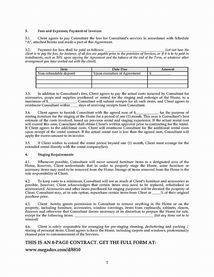 Image Result For Home Staging Contract Template Home Staging Contract Template Stage Quotes
