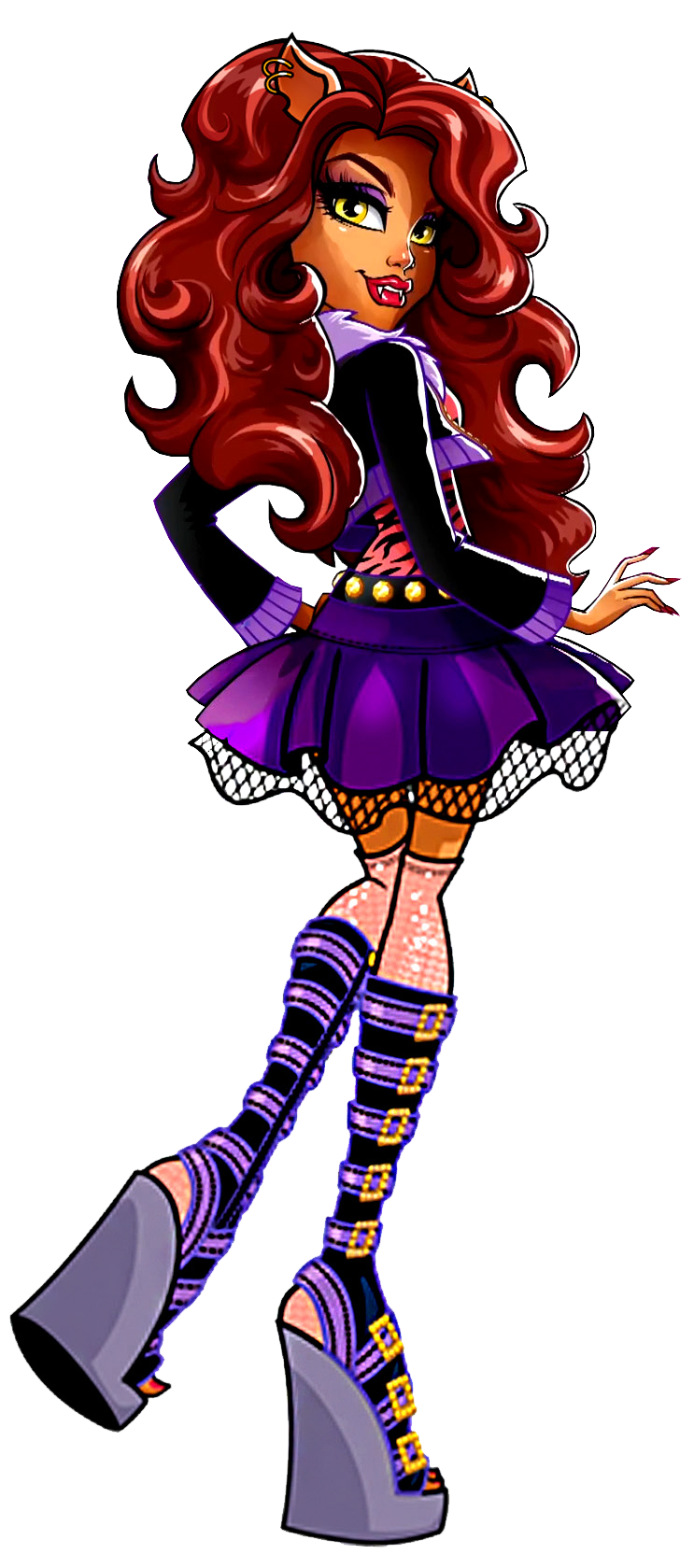 Clawdeen wolf basic new profile art monster high art - Clawdeen wolf pyjama party ...