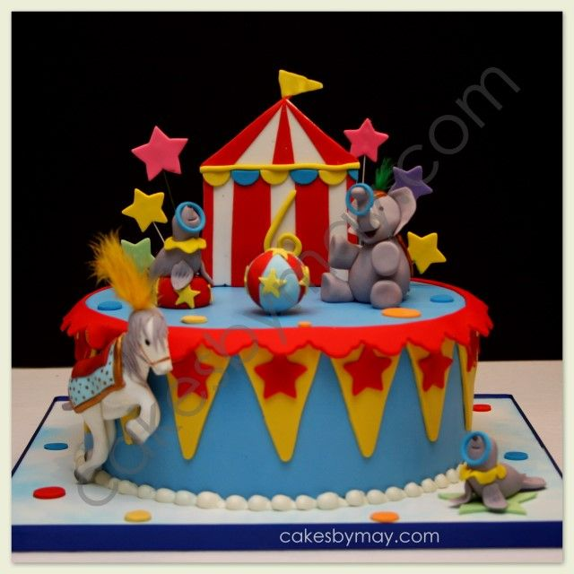 circus birthday party cakes Buscar con Google rodrigo