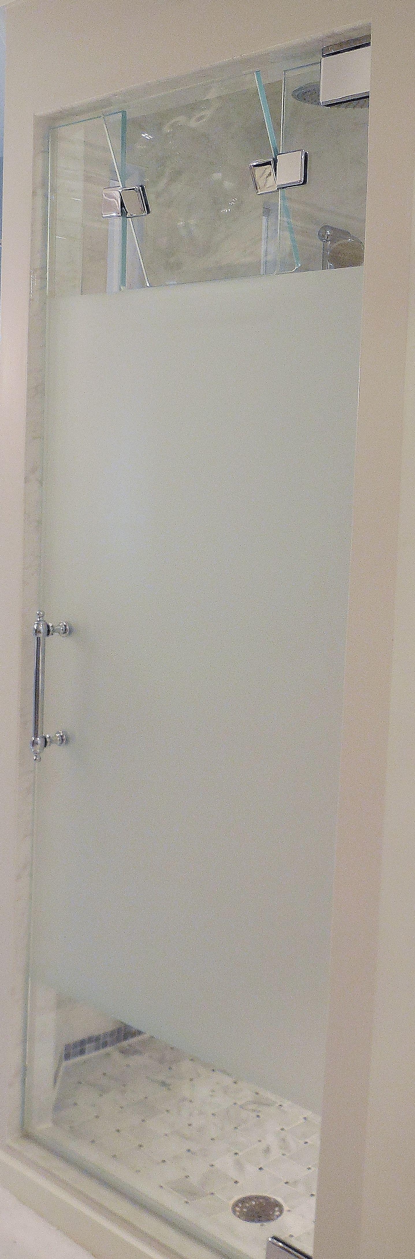 Frameless Steam Shower Enclosure Door With Privacy Ban Steam Door