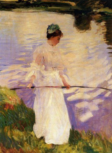 paintings in violet images | violet fishing painting - john singer sargent violet fishing paintings ...