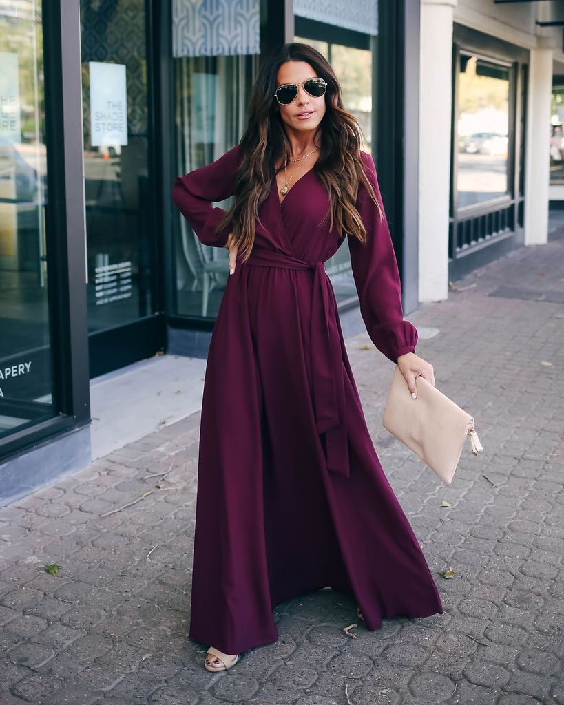 Read My Mind Long Sleeve Maxi Dress Burgundy Long Sleeve Maxi Dress Long Sleeve Maxi Evening Dress Maxi Dress With Sleeves [ 1024 x 819 Pixel ]