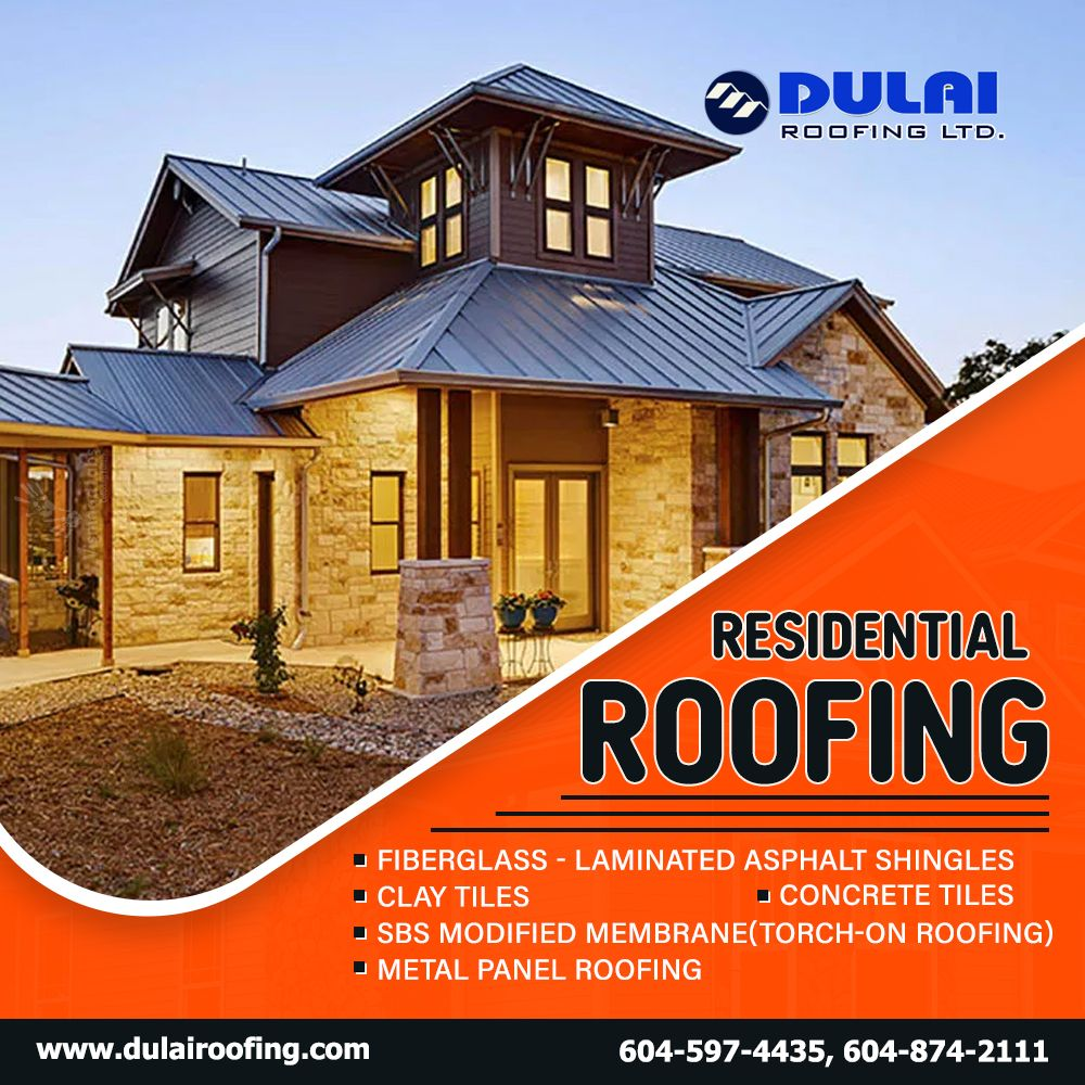 Hi, Dear Canadians! Dulai Roofing Ltd., located in Lower