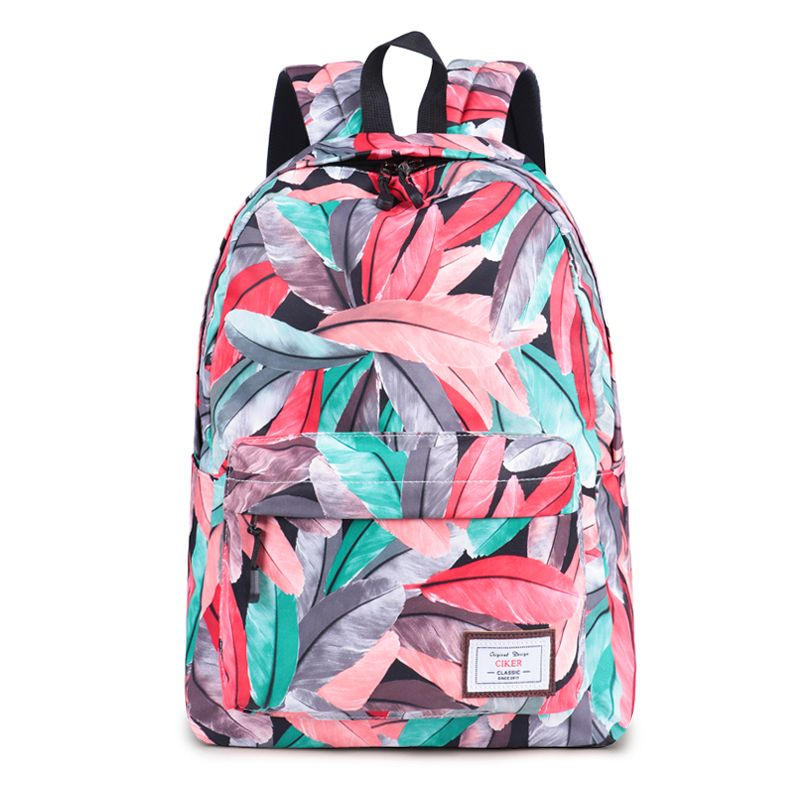 CIKER New Fashion Preppy Style Women Backpack Ladies School Bags Cute  Feather Printing Girls Back Packs Travelling Bags Rucksack  backpacking   backpacks ... 5d53c4b5c7731