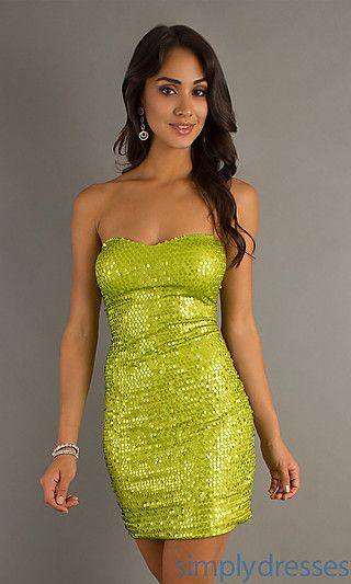 Trendy Sweet Allure A-line Short Sweetheart Strapless Sequin Cocktail/Homecoming/Sweet 16 Dress AS-i345818H4