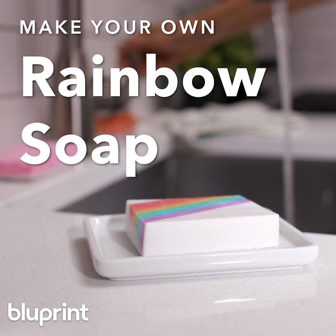 DIY Rainbow Soap #diysoap