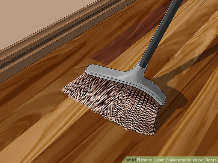 Image Titled Clean Polyurethane Wood Floors Step 2 Wood Floors Flooring Wood