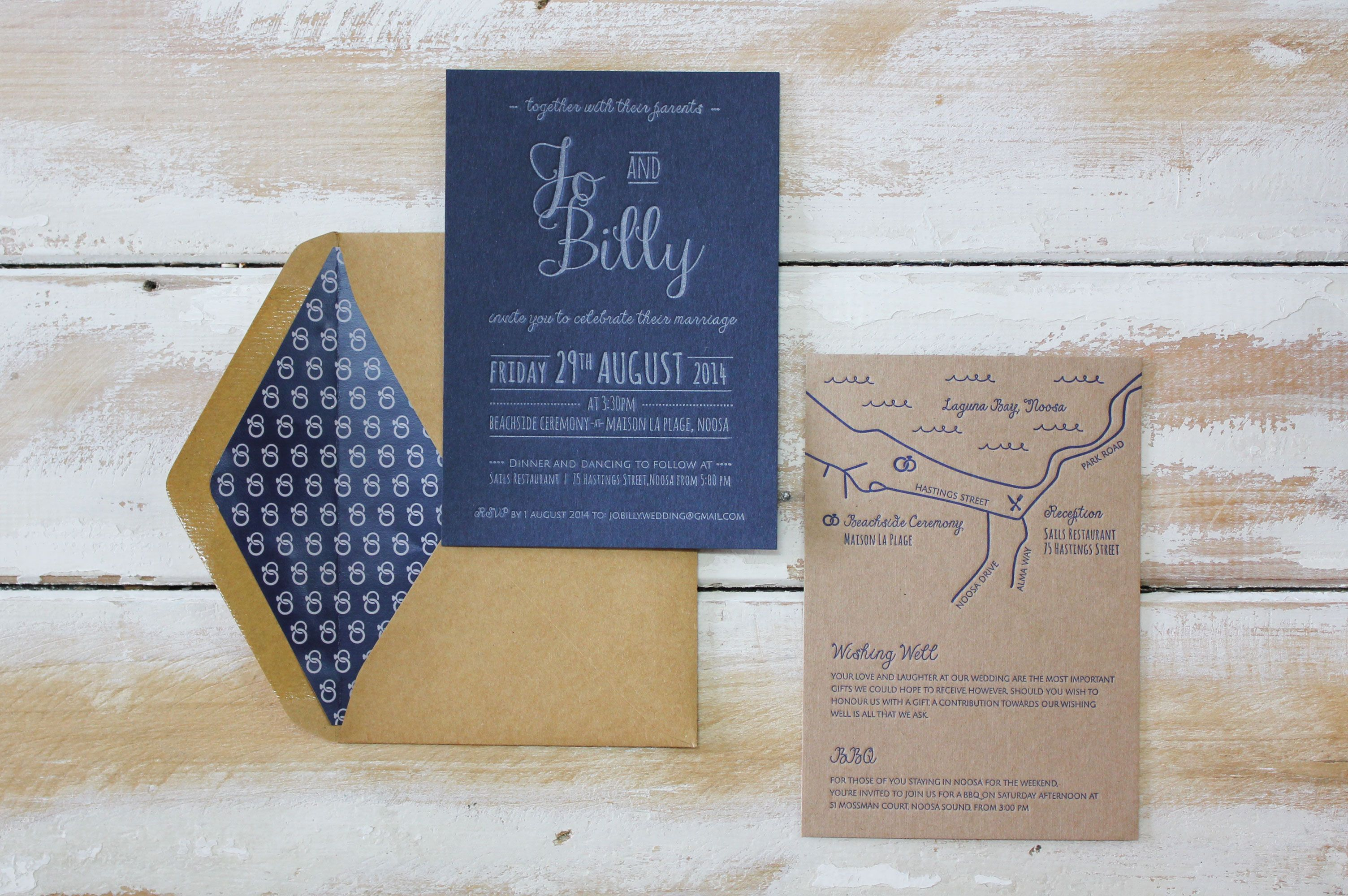 Fun u nautical navy letterpress designed and printed by little