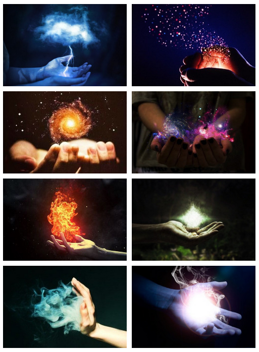 Wether, Teleportation, Time, Dreams, Fire, Nature, Air, Healing | (time can look 2 different ways, 1st is like in this pic, 2nd is it looks kinda like dreams)